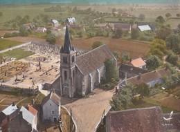 Carte 1960 JUSSY LE CHAUDRIER / VUE AERIENNE ET EGLISE - Autres Communes