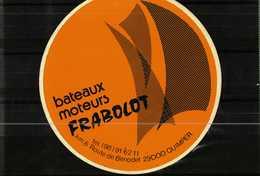 Autocollant  -        Bateaux Moteurs FRABOLOT  à   QUIMPER - Stickers