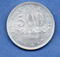 Allemagne -   500 Francs 1923 A --  Km #  36  --  état SUP - 200 & 500 Mark