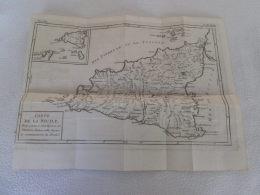 GRAVURE XVIIIe - Carte De La Sicile (31X24) - Stampe & Incisioni