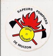 Autocollant  -     MUIZON   51      SAPEURS POMPIERS - Stickers