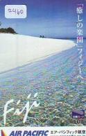 Télécarte  JAPON * AIR PACIFIC * FIJI  (2460) * AVIATION * AIRLINE Phonecard  JAPAN AIRPLANE * FLUGZEUG - Avions