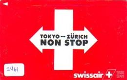 Télécarte  JAPON * SWISSAIR * ZURICH  (2461) * AVIATION * AIRLINE Phonecard  JAPAN AIRPLANE * FLUGZEUG - Avions