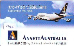 Télécarte  JAPON * ANSETT AUSTRALIA  (2462) * AVIATION * AIRLINE Phonecard  JAPAN AIRPLANE * FLUGZEUG - Airplanes