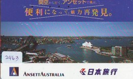 Télécarte  JAPON * ANSETT AUSTRALIA  (2463) * AVIATION * AIRLINE Phonecard  JAPAN AIRPLANE * FLUGZEUG - Airplanes