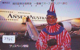 Télécarte  JAPON * ANSETT AUSTRALIA  (2465) * AVIATION * AIRLINE Phonecard  JAPAN AIRPLANE * FLUGZEUG - Avions
