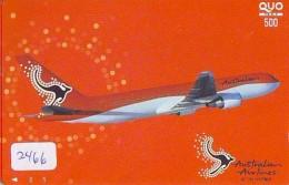 Télécarte  JAPON * AUSTRALIAN AIRLINES  (2466) * AVIATION * AIRLINE Phonecard  JAPAN AIRPLANE * FLUGZEUG - Avions