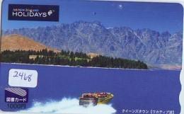 Télécarte  JAPON * AIR NEW ZEALAND  (2468) * AVIATION * AIRLINE Phonecard  JAPAN AIRPLANE * FLUGZEUG - Avions