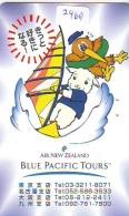 Télécarte  JAPON * AIR NEW ZEALAND  (2469) * AVIATION * AIRLINE Phonecard  JAPAN AIRPLANE * FLUGZEUG - Avions