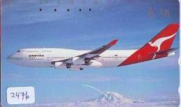 Télécarte  JAPON * QANTAS  * (2476) * AVIATION * AIRLINE Phonecard  JAPAN AIRPLANE * FLUGZEUG - Avions