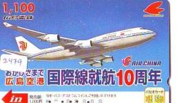 Télécarte  JAPON * AIR CHINA  * (2479) * AVIATION * AIRLINE Phonecard  JAPAN AIRPLANE * FLUGZEUG - Avions