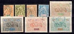 Obock Huit Timbres Anciens 1892/1893. B/TB. A Saisir! - Oblitérés