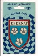 Adhésif Métallisé NEM  Double Face     -  51   EPERNAY - Stickers