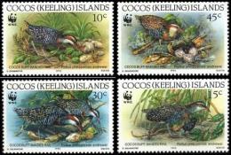 (WWF-127) W.W.F. Cocos Islands MNH Birds / Bird Stamps 1992 - W.W.F.