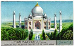 6 Trade Cards Liebig 1250 Mosquées Célèbres Beroemde Moskeeën Omar  Agra Delhi Kaaba La Mecque Mekka Aya Sophia - Liebig