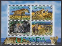 (WWF-420) W.W.F. Uganda / Spotted Hyaena MNH Stamps With Margin 2008 - W.W.F.