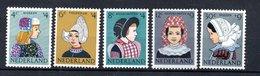 Pays Bas  / Série  N 728 à 732 /    NEUFS ** - 1949-1980 (Juliana)