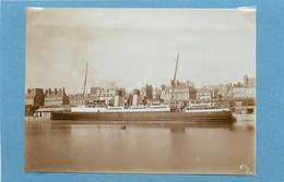 SAINT MALO (île Et Vilaine)-  Bateau De Jersey, Juin 1933( Photo Format 11,3cm X 8,2cm). - Boten