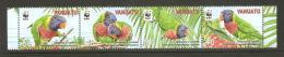 (WWF-474) W.W.F. Vanuatu : Rainbow Lorikeet MNH Perf Stamps 2011 - W.W.F.
