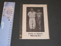 """ROSITA ET ROLAND MONTI - Mention """" Funambule Place Du Martyr. 1959. (Verviers ?) - Célébrités"""