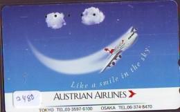 Télécarte  JAPON * AUSTRALIAN AIRLINES  (2480) * AVIATION * AIRLINE Phonecard  JAPAN AIRPLANE * FLUGZEUG - Avions