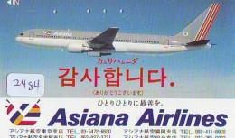 Télécarte  JAPON * ASIANA AIRLINES  (2484) * AVIATION * AIRLINE Phonecard  JAPAN AIRPLANE * FLUGZEUG - Avions