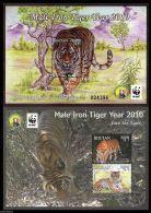 WWF W.W.F. Bhutan MNH Tiger New Year Souvenir Sheet 2010 - W.W.F.
