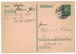 AI72  Deutsches Reich Germany 1930 Postkarte  Nach Eldena - Germania