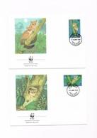 Tanzania - FDC - WWF - N.4 Buste - 1989 - Tanzania (1964-...)