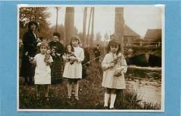 PONTVALLAIN (sarthe)-  Moulin De Fautreau,enfants Et Poupées, Septembre 1931( Photo Format 11,3cm X 8,3cm). - Boten
