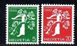 479/1500 - SVIZZERA 1939 , Unificato N. 337A-339A  ***  MNH.  Leggenda Tedesca. Carta Goffrata - Svizzera
