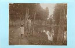 PONTVALLAIN (sarthe)-  Moulin De Fautreau, Septembre 1931( Photo Format 10,8cm X 7,9cm). - Boats