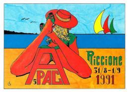 [MD2284] CPM - RICCIONE - APAC - 7° SALONE DELLA CARTOLINA D'EPOCA - CARTOLINA PIRATA NUMERATA - NV - Rimini