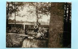 PONTVALLAIN (sarthe)-  Bords De L'aune, Septembre 1931( Photo Format 11,6cm X 8,4cm). - Boats