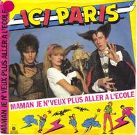 """ICI PARIS """"MAMAN JE N'VEUX PLUS ALLER A L'ECOLE / LE VER INTERPLANETAIRE"""" 45 Tours VINYL - Vinyl Records"""