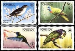 (WWF-009) W.W.F. Dominica Bird / Birds Of Caribbean / Parrot MNH Stamps 1984 - W.W.F.