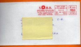 75 PARIS OUTILLAGE 2002 Lettre Entière 110x220 N° EMA MM 288 - Marcophilie (Lettres)