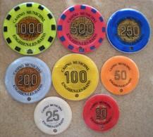 8 Jetons Casino Municipal ENGHIEN LES BAINS - Casino