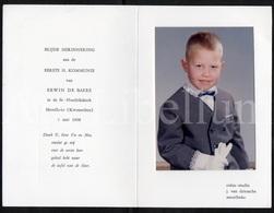 Photo / Confirmation / Communie / Boy / Garçon / Photographer J. Van Driessche / Merelbeke / Kwenenbos / 1968 - Personnes Identifiées