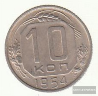 Soviet Union Km-number. : 116 1954 Extremely Fine Copper-Nickel Extremely Fine 1954 10 Kopeken Crest - Russia