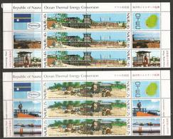 Ocean Thermal Energy Conversion,  Deux Feuilles De La Série  , 12 Timbres Neufs ** + 12 Vignettes Côte 20,00 Euro - Nauru