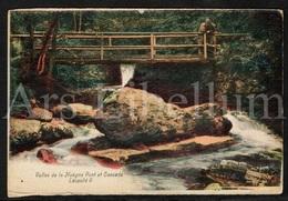 Postkaart / Postcard / Carte Postale / La Vallée De La Hoëgne / Pont Et Cascade Leopold II / 2 Scans / Liège - Zonder Classificatie