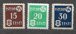 #34A# GERMAN OCCUPATION OF ESTONIA 1/3 MLH*. - Ocupación 1938 – 45