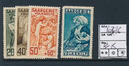SARRE SAAR YVERT  103/106 LH - 1920-35 Société Des Nations