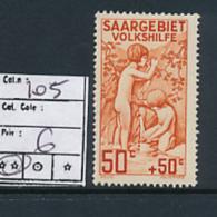 SARRE SAAR YVERT  105 MNH - 1920-35 Société Des Nations