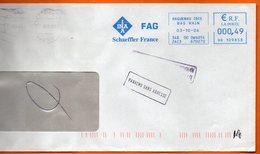 67 HAGUENAU   INA  2006 Lettre Entière 110x220 N° EMA MM 302 - Marcophilie (Lettres)