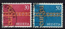 Schweiz 1971 // Mi. 947/948 O (M.028..365) - Europa-CEPT