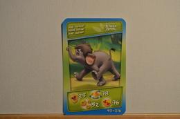 Carte Disney - Bébé Eléphan N°93 - Cora Match Smatch - 2011 - Autres Collections
