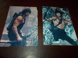 B697   2 Foto Silvester Stallone Rambo Cm14,5x10 - Fotografia
