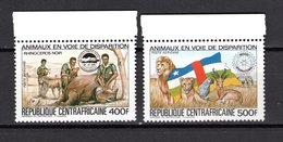 CENTRAFRIQUE PA N° 293D + 293E  NEUF SANS CHARNIERE COTE 13.00€  ANIMAUX - República Centroafricana